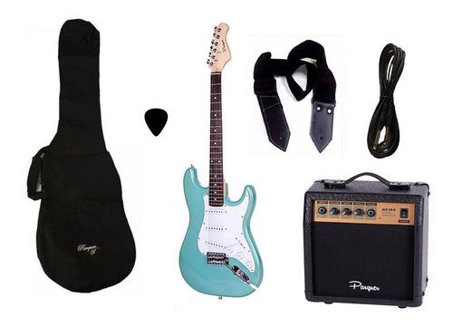 combo guitarra electrica parquer celeste amplif 10w cuota