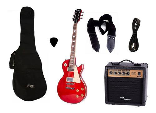 combo guitarra electrica parquer lp roja amplificador 10w