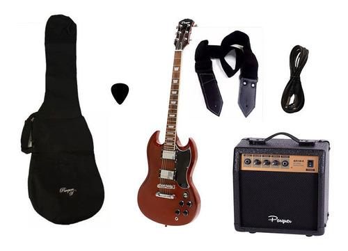 combo guitarra electrica parquer sg wd amplificador 10w