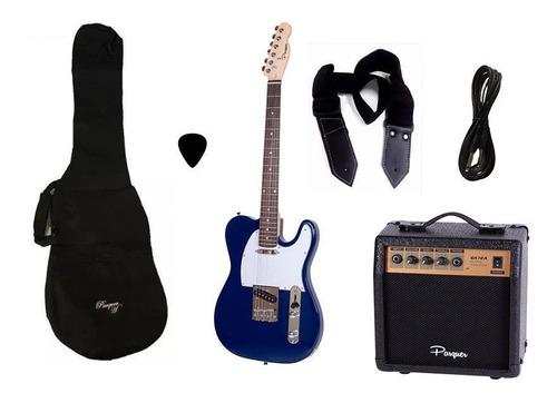 combo guitarra electrica telecaster bl parquer amplificador