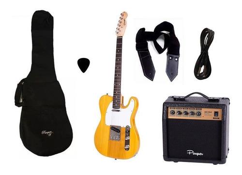 combo guitarra electrica telecaster nh parquer amplificador