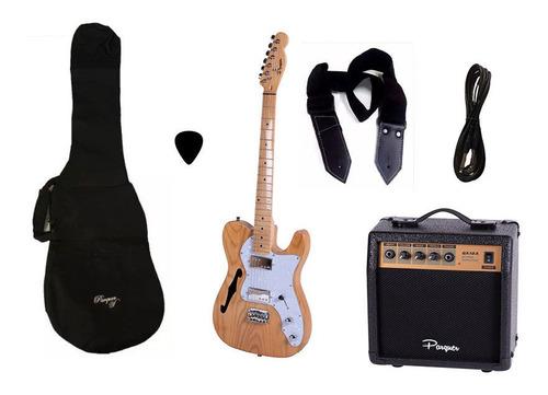 combo guitarra electrica telecaster nw parquer amplificador