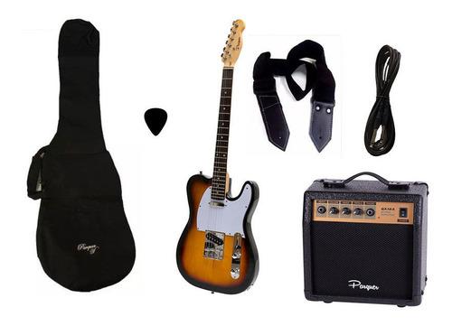 combo guitarra electrica telecaster sb parquer amplificador