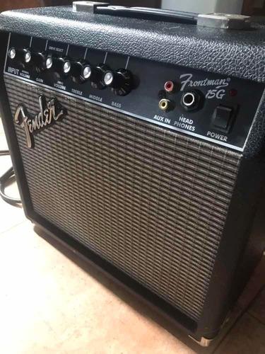 combo guitarra squier amplificador frontman 15g fender.