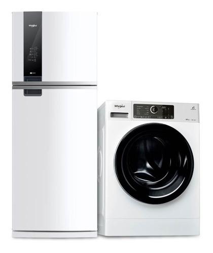 combo heladera 462 lts y lavarropa 8,5 kg wrm56d1+wlcf8