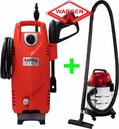 combo hidrolavadora gamma + aspiradora einhell oferta