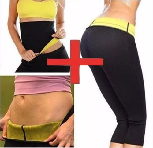 combo hot pantalón + cinturilla térmico shapers reductor