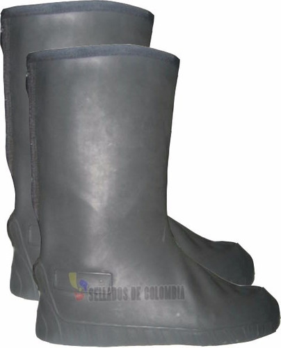 combo impermeable moto sdc + zapatones latex + envío