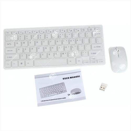 combo inalámbrico mini: teclado y protector + mouse + pilas