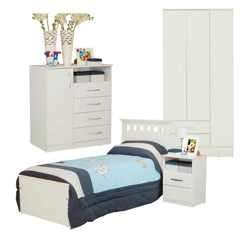 combo infantil cama 1p mesa mesita d luz comoda placard 3p b