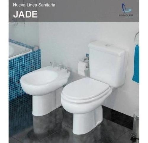 combo inodoro bidet deposito mochila pringles jade + asiento