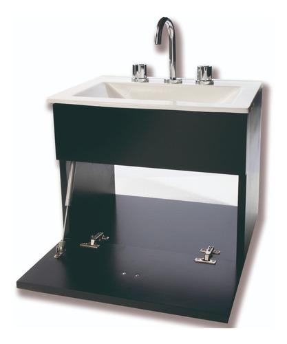 combo inodoro oniro vanitory negro 50 cm espejo griferia