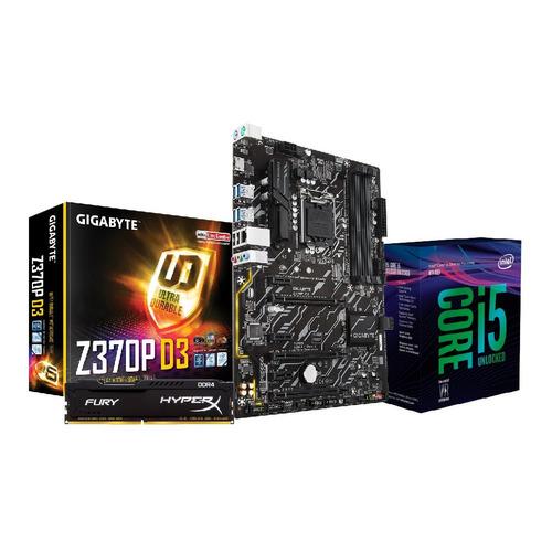 combo intel i5 8600k + board z370 + ram 8 gb