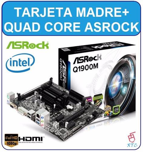 combo intel quad core j1900+tarjeta madre asrock q1900m xtc