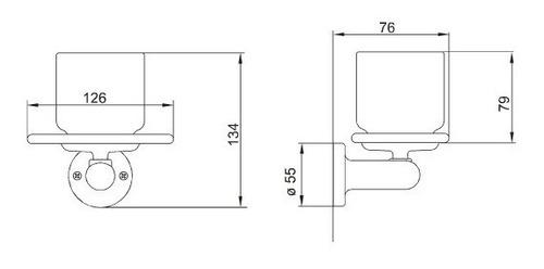 combo juego accesorios fv allegro 6 piezas baño metálico