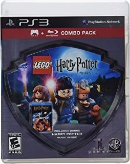 combo juego+blueray + harry potter1 lego , ps3, buen estado