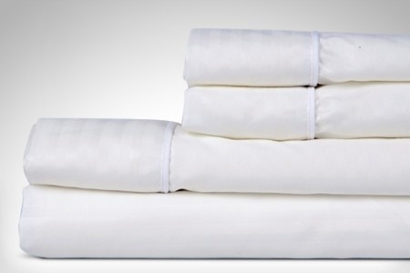combo juego sabanas sencillo rayas blancas + cobija 1.44 x 2