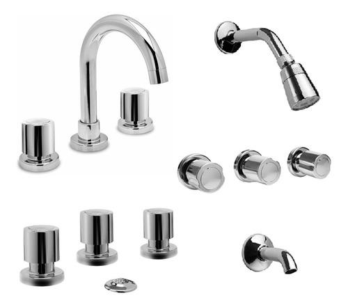 combo juego viva cromo lavatorio bidet ducha embutir con transferencia baño completo cromo set kit 5 años garantía