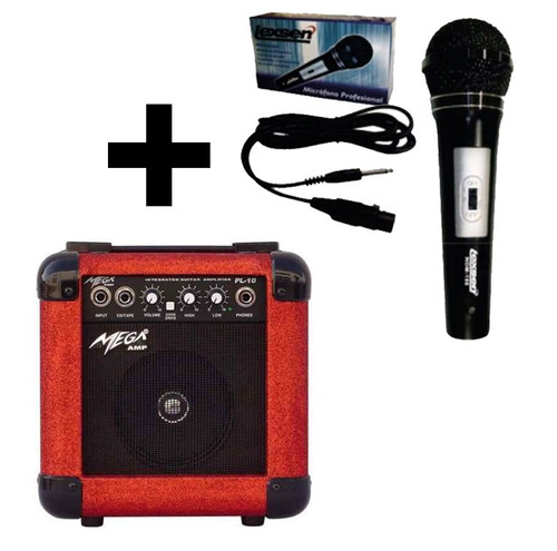 combo karaoke ampli mega + mic lexsen ndm 188 envio gratis