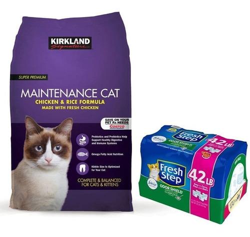 combo kirkland gato y arena fresh ste - kg a $17500