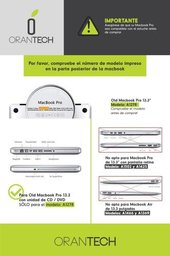 combo kit 5 en 1 accesorios macbook pro 13,13.3 matte