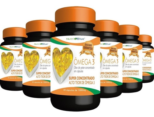 combo kit 6 omega3 - omega 3 nutriblue - super concentrado