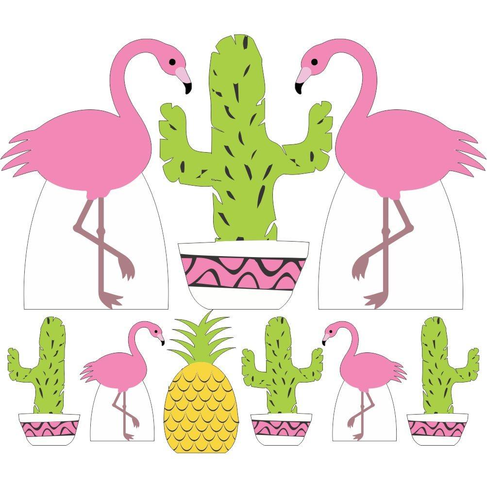 Combo Kit 9 Flamingo Para Festa De Aniversario E Decoracao R