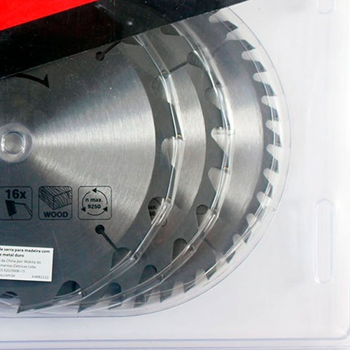 combo kit disco de sierra circular makita 165 mm buje 20 mm