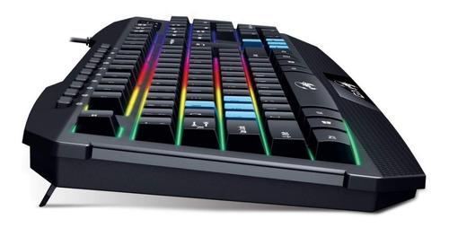 combo kit gamer mouse teclado retroiluminado scorpion genius
