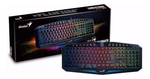 combo kit gamer teclado k9 mouse x-g200 genius fps + envio