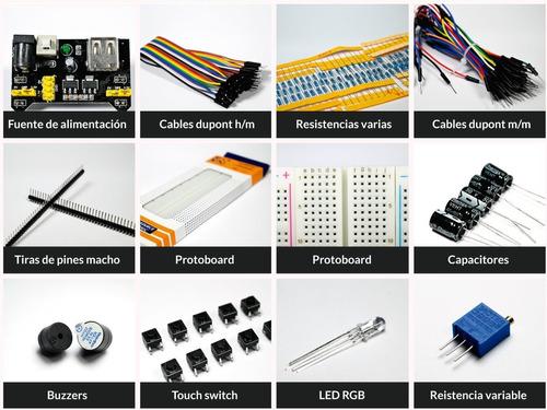 combo kit protoboard 830 + fuente 5v 3.3v +  cables m - h