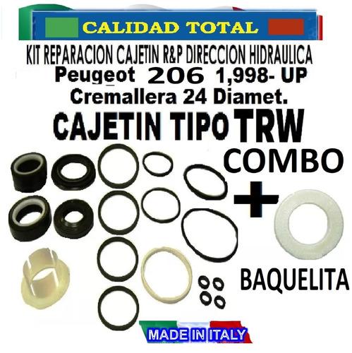 combo kit rep cajetin dir hid + baqueli peugeot 206 tipo trw