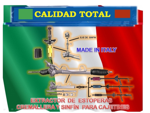 combo kit reparar eje sinfin cajetin dir fiat palio