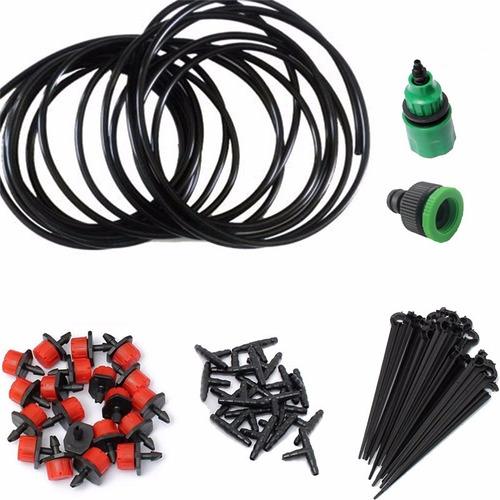 combo kit sistema de riego por goteo cable + coples + gotero