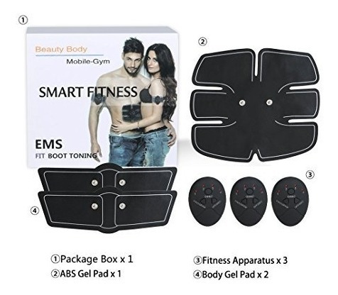 combo kit smart fitness + 6 pack ems beauty body mobile gym