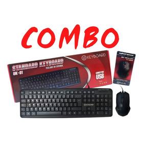 Combo Kit Teclado Y Mouse Para Pc Escritorio Computadora