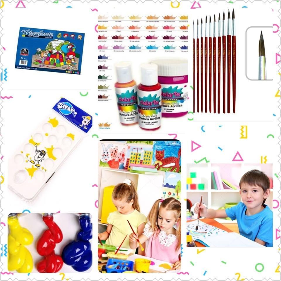 Combo Kitº10 Pintura Para Niños Regalar - $ 350,00 en Mercado Libre