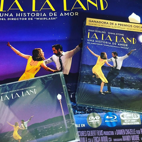 combo la la land pelicula dvd + cd soundtrack original nuevo