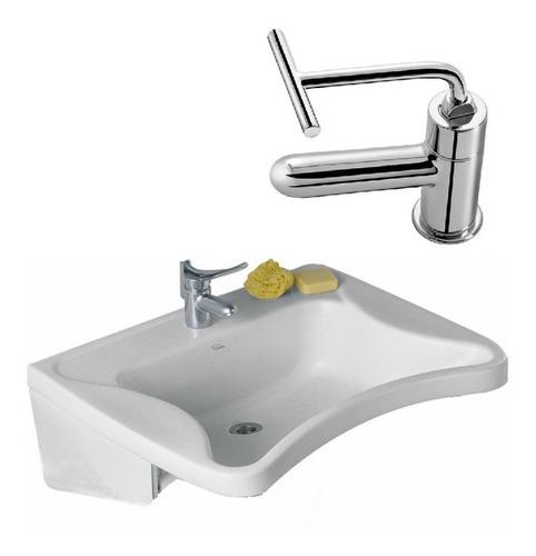 combo lavatorio ferrum espacio + griferia fv antivandalica