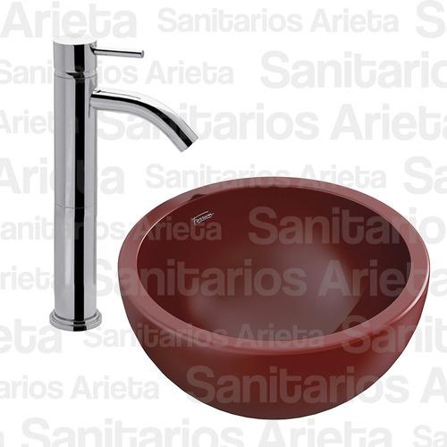combo lavatorio fv temple + bacha ferrum persis roja cs2638