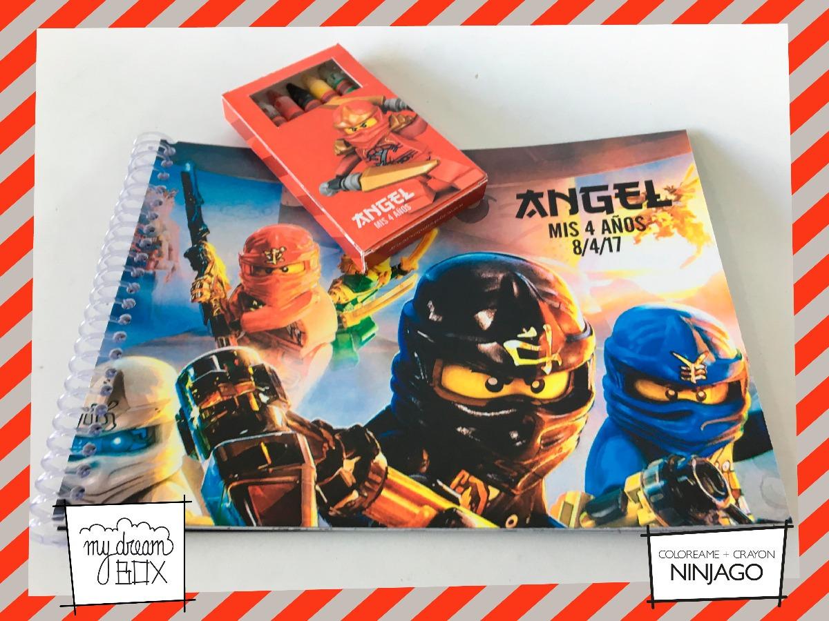 Combo Libro Colorear + Crayones Lapiz Souvenir Lego Ninjago - $ 90 ...