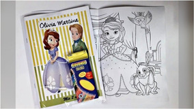 Combo Libro Para Colorear Personalizado Mas Caja De Lapices