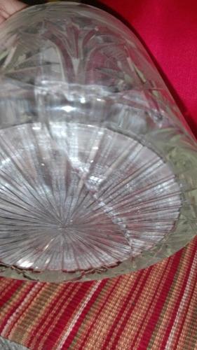 combo licorera wiskera cristal tallado cuello plata sellada
