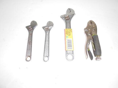 combo llaves ajustables y alicate precion (402)