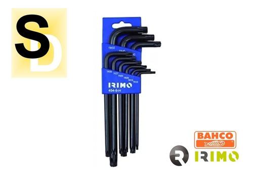 combo llaves allen en mm + llaves torx irimo 9 pz c/u oferta