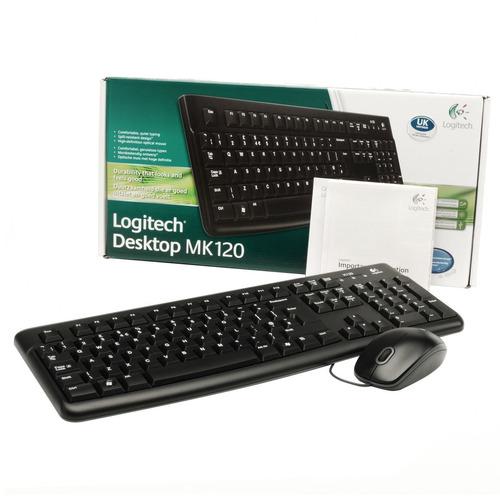 combo logitech mk120 teclado usb + mouse usb en español - ne