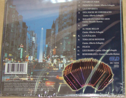 combo los solistas 2 cd nuevo sellado d`arienzo / kktus