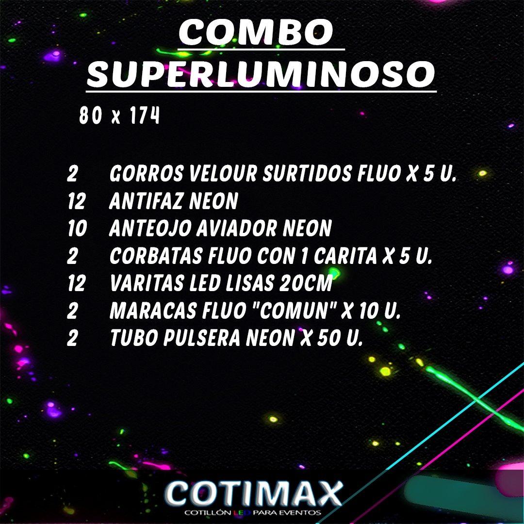 Combo Luminoso Carioca 80 Personas - 174 Art. Cotillon -   2.894 a54d292ad04