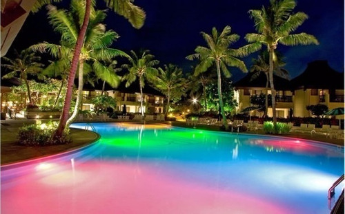 combo luz piscina rgb multicolor led 15w + fuente + control