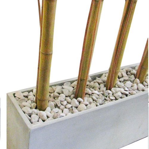 combo maceta jardinera fibro 80x20x30 +piedra+mimbre